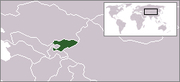 LLocation map of Kyrgyzstan