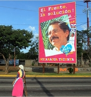 Ortega campaign billboard in Managua. Photo: Miguel Alvarez/New York Times